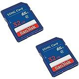 SanDisk 32GB Class 4 SDHC Flash Memory Card - 2 Pack SDSDB2L-032G-B35 Retail Package