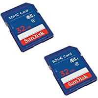 SanDisk 32GB Class 4 SDHC Flash Memory Card - 2 Pack SDSDB2L-032G-B35 Retail Package