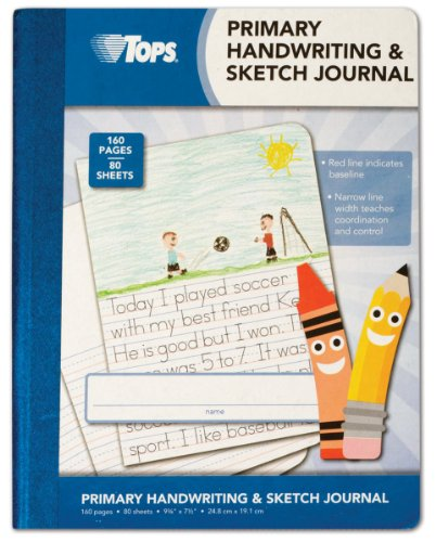TOPS Handwriting and Sketch Journal for Primary School, 80 Sheets, 9 3/4 x 7 1/2-Inches (63785)