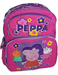 Peppa the Pig Backpack 16 Tote Travel Bag with George