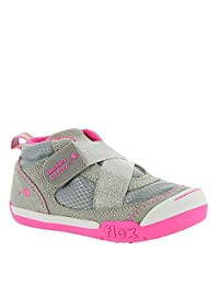 Skechers Girl's Flex Play-Early Start Shoe, Grey/Hot Pink, 10 M US Toddler