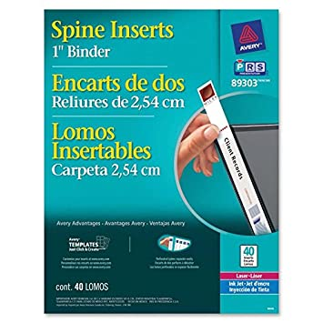 avery binder spine insert 89303 amazon ca office products