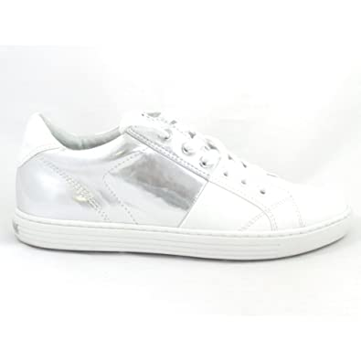 Marco Tozzi 23605 Lovati White and Silver Lace Up Trainer