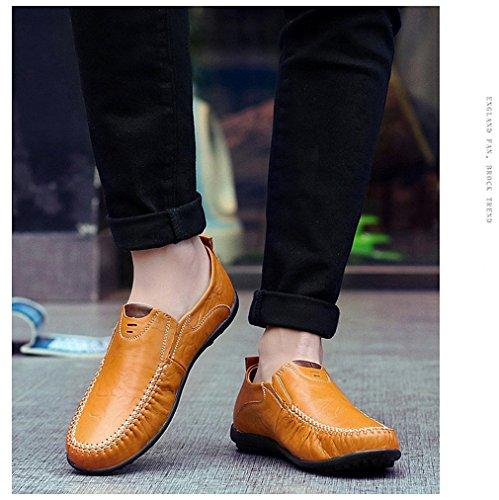 Main Casual Souple À Mocassins En Comforable Brown La Cuir Chaussures Plates Pour Hommes Lumino Loafer nR4pqz