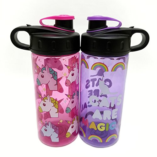 Cool Gear 'COOL GEAR'Cats Are Magical & Unicorn Water Bottle 16 oz BPA Free by Cool Gear
