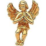 Praying Angel Lapel Pin in 14k Yellow Gold