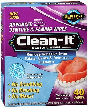 D.O.C. Denture Wipes 40 Each (Pack of 5)