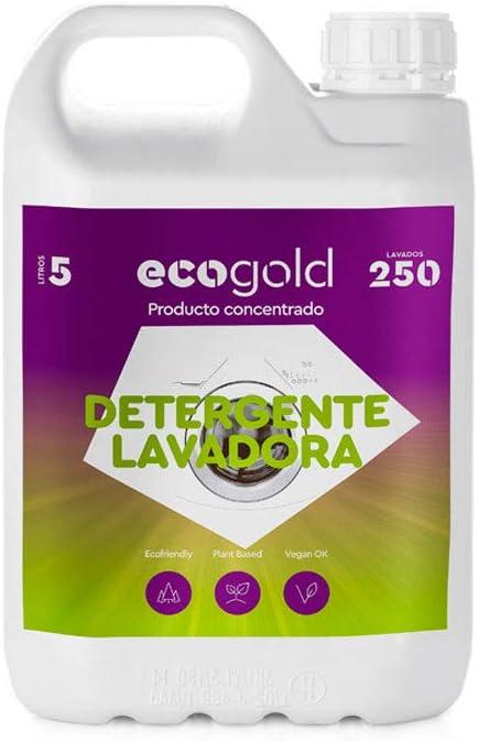 Ecogold - Detergente ecológico para Lavadora 5L - Unidad de Recarga (250 Lavados)