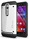 TUDIA Tough OMNIX [Heavy Duty] Hybrid Full-body Protective Case with Front Cover and Built-in Screen Protector for ASUS ZenFone 2 ZE550ML/ZE551ML (Not Compatible with ZE500CL) (White)