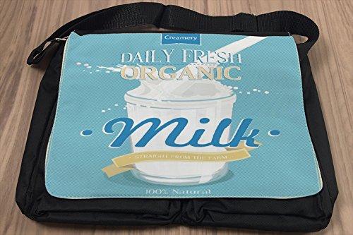 Borsa Tracolla Nostalgico Divertimento Latte biologico Stampato