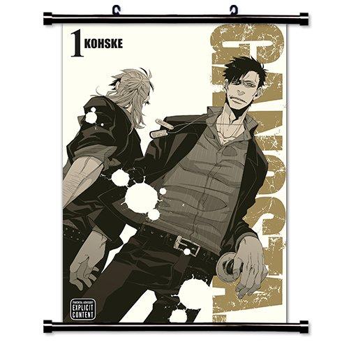 "Gangsta Anime Manga Fabric Wall Scroll Poster (16"" x 23"") Inches. [WP] Gangsta- 5"