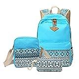 Backpack for Girls, Sugaroom School Backpack Canvas Bookbags Teen Backpacks with Shoulder Bag
