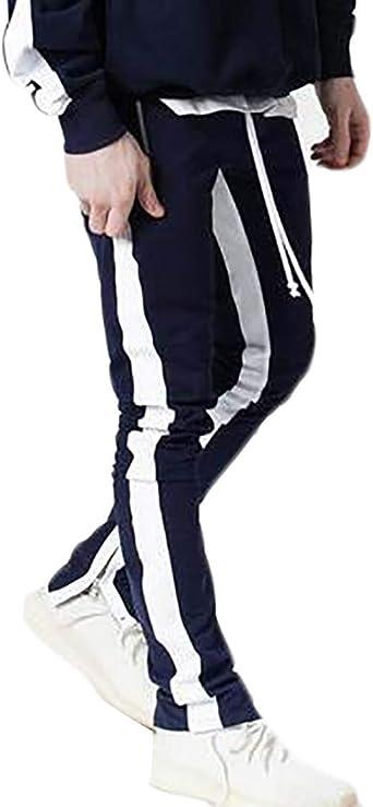 BingSai - Pantalones de chándal para Hombre con Bolsillos con ...