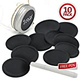 10 x Smiths Chalkboard Mason Jar Lids, reversible lids & reusable with Magic ...