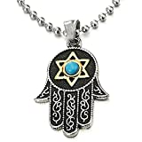 Best Hand Necklaces - Hamsa Hand of Fatima Pendant Necklace Steel Silver Review