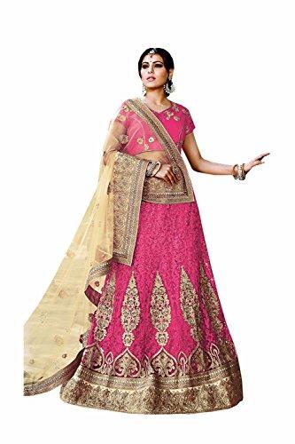 Da Facioun Indian Women Designer Wedding pink Lehenga Choli K-4747-41900