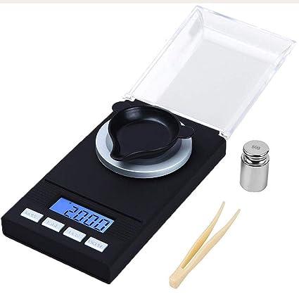 Básculas de cocina DUDDP Mini joyería Escala 0.001G Laboratorio de alta precisión Mg Barra de