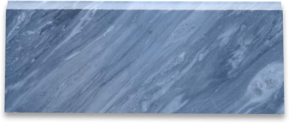 Stone Center Online Bardiglio Gray Marble 5x12 Baseboard Trim Molding Honed For Kitchen Backsplash Bathroom Flooring Shower Surround Dining Room Entryway Corrido Spa 1 Piece Amazon Com