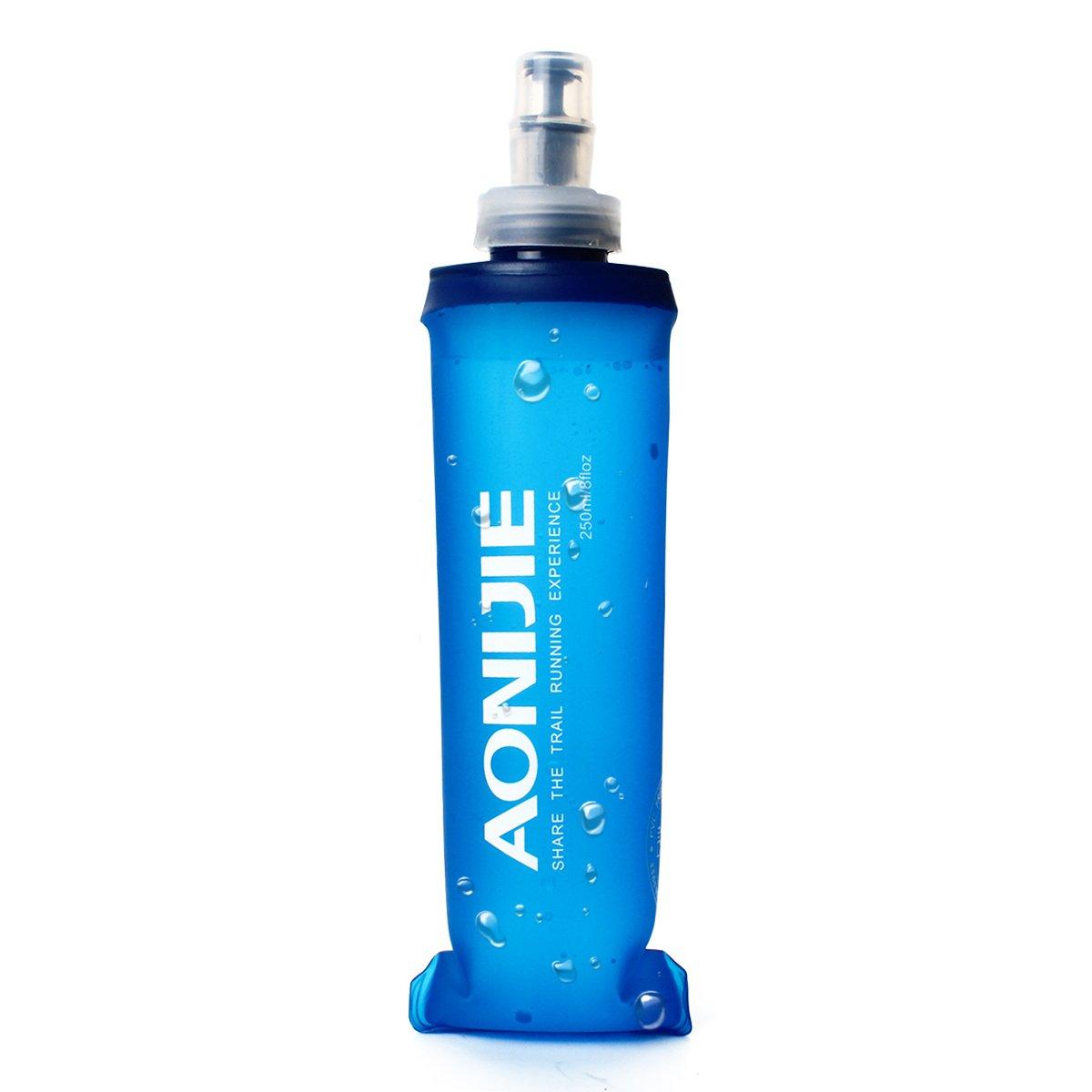 Geila Hidratació n ligero plegable libre de BPA botella de agua del bolso suave Frasco para el Deporte Running Senderismo (250ML) Geila Co. Ltd