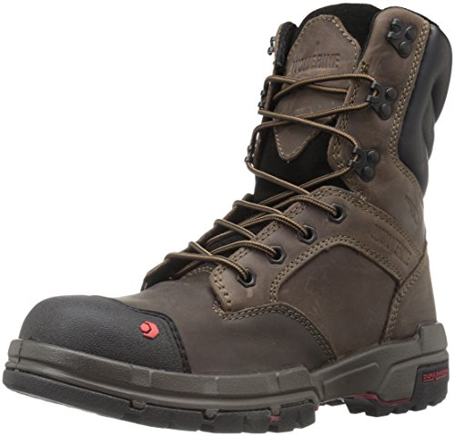 Men's Toe Waterproof 8 Work Wolverine Legend Comp Brown Dark Shoe Inch ZYwgxAqdAU