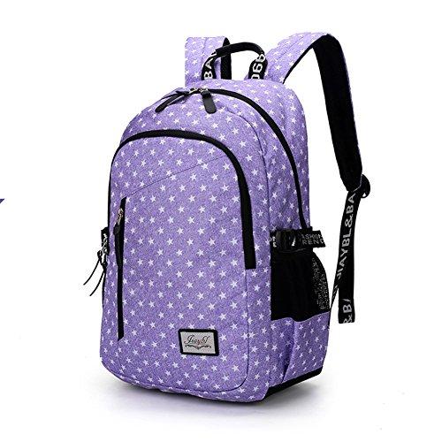 Mochila ligera de gran capacidad,bolso ocasional del estudiante del recorrido-D C