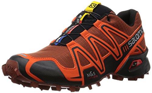 Salomon Speedcross 3, Zapatillas de Trail Running para Hombre Rojo (Deep Red / Tomato Red / Black)