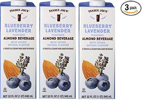 Trader Joe's Blueberry Lavender Flavored Almond Beverage Pack of 3 ()