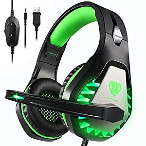 Pacrate Gaming Headset with Microphone for Laptop Xbox One Headset PS4 Headset Mac Gaming Headphones with Microphone…