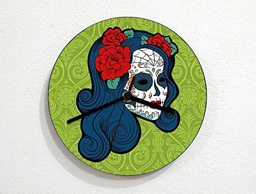 Sugarskulls - Calavera Catrina - Blue Hair - Day Of The Dead - Dia De Los Muertos - Mexican Carnival Holiday - Novelty Gift - Custom Name Wall (La Calavera Catrina Costume)