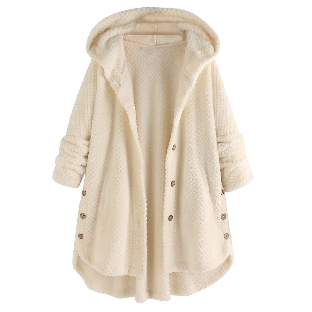 HULKY Manteaux /À Capuche Femme Hiver Grande Taille Parka Coat Outwear Manches Longues Sweat Veste avec Capuche Dames Manteaux Doublure Polaire /Épais Chaud