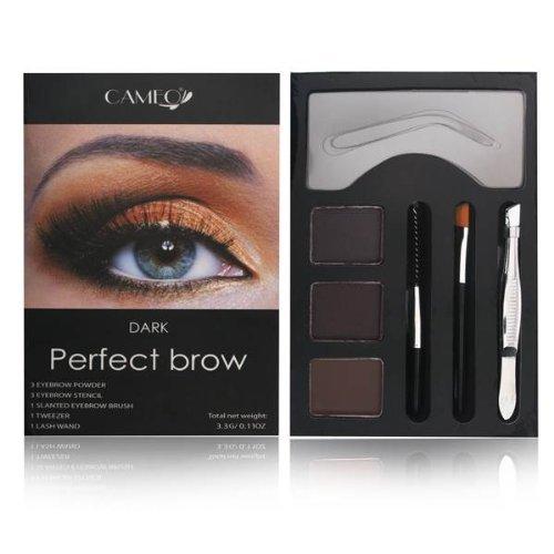 Cameo Perfect Brow Makeup, Dark Brown (Best Brow Powder)