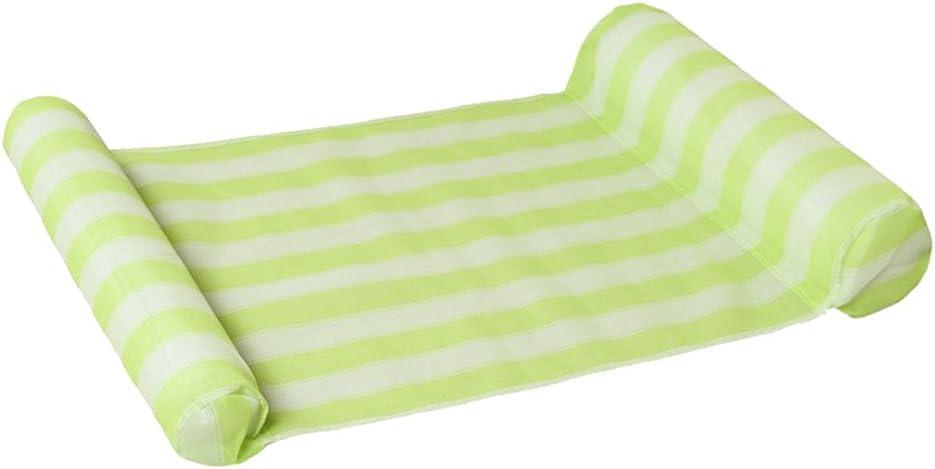 Hamaca De Agua Tumbona De La Piscina Hamaca Flotadora Piscina De Aire Silla Flotante Ligera Silla De Piscina Compacta Y Portátil - Verde