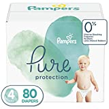 : Diapers Size 4, 80 Count - Pampers Pure Disposable Baby Diapers, Hypoallergenic and Unscented Protection, Giant Pack