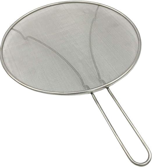 protege contra la grasa acero inoxidable Splatter Protector para sart/én malla ultrafina mantiene a tu familia segura y la estufa limpia de salpicaduras de aceite al cocinar o fre/ír 33cm