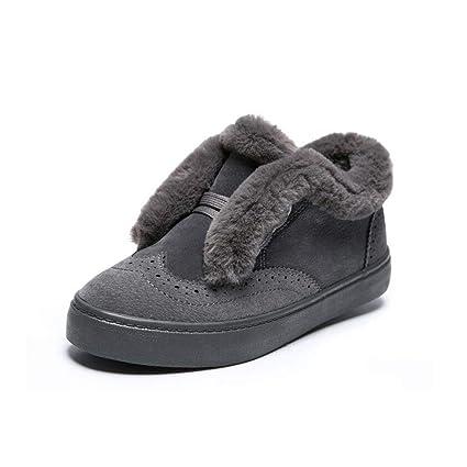 Hy Calzado de Mujer, Calzado de otoño/Invierno de Cuero Calzado Casual a Prueba