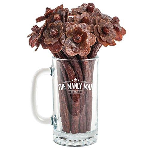 Beef Jerky Flower Bouquet & Beer Mug (Original, 1/2 Dozen)