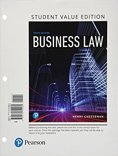 Business law student value edition 10th edition henry r business law student value edition 10th edition 10th edition fandeluxe Choice Image