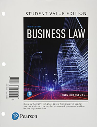 Business Law, Student Value Edition (10th Edition)