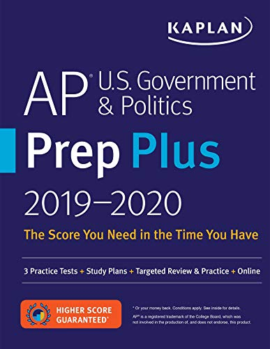 Pdf Teen AP U.S. Government & Politics Prep Plus 2019-2020: 3 Practice Tests + Study Plans + Targeted Review & Practice + Online (Kaplan Test Prep)