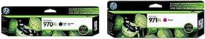 HP 970   PageWide Cartridge High Yield   Black   CN625AM & 971   PageWide Cartridge High Yield   Magenta   CN627AM
