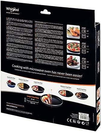 Whirlpool AVM250 Microwave Accessory/A Crisp Plate Medium Thin ø29 cm/Also Suitable for Bauknecht Microwave Diameter 25 cm