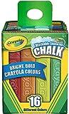 Crayola Washable Sidewalk Chalk, Assorted Colors 16 ea (Pack of 8)