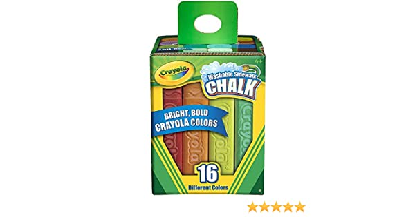 Crayola Washable Sidewalk Chalk Assorted Colors 16 ea Pack of 8