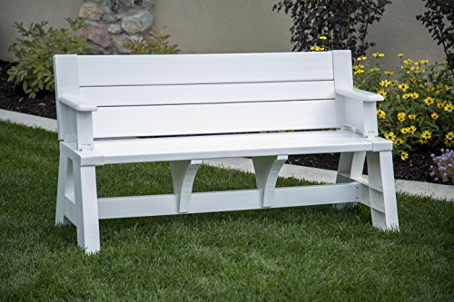 Premiere Products 5RCAT Resin Convert-A-Bench (White Glider Bench)