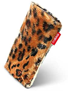 fitBAG Bonga Leopard–Funda a medida para LG Prada 3.0. Pelo sintético con forro de microfibra para la limpieza de pantalla