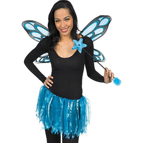 Amscan Blue Sparkle Fairy Costume Kit  sc 1 st  Amazon.com & Amazon.com: Amscan Blue Sparkle Fairy Costume Kit: Clothing