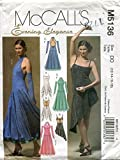 McCall's Evening Elegance Pattern M5136 Misses' Dresses in Two Lengths and Fingerless Gloves, DD (12-14-16-18)