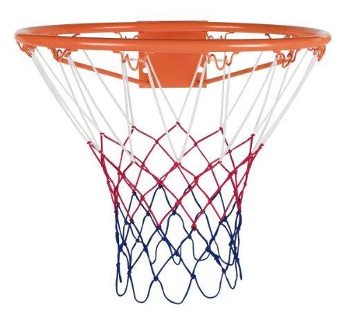 Rucanor - Canasta de baloncesto con red (45 cm), color naranja y blanco