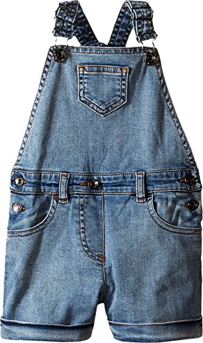 Dolce & Gabbana Kids Baby Girl's Denim Coveralls in Light Blue (Toddler/Little Kids) Light Blue 6 (Little Kids) by Dolce & Gabbana