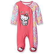 Hello Kitty Baby Girls' Coveral, Calypso Coral, 0-3 Months